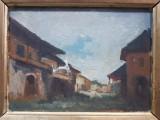 Ion Marinescu Valsan (1866-1936), Peisaj cu case