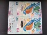 Bancnota Bermuda, 2 dollars 2009, UNC