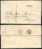 Italy 1858 Postal History Rare Stampless Cover + Content Budrio Bologna D.1083