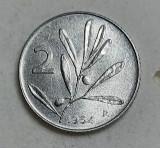 Moneda 2 Lire, anul 1954 R, Europa