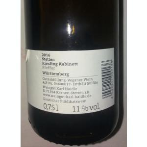 VIN KARL HAIDE -  GERMANIA - RIESLING - SEC - 2016 - 11,00 % - 750 ML