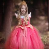 Rochie/rochita roz/bleu Printesa Aurora Disney/ petreceri serbari, 3-4 ani, 5-6 ani, 6-7 ani, 7-8 ani