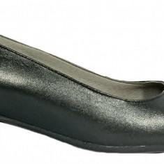 Pantofi dama din piele naturala de culoare neagra Ninna Art 234