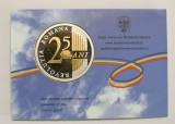 MONETARIA STATULUI . MEDALIE 2014 - 25 DE ANI DE LA REVOLUTIA ROMANA .