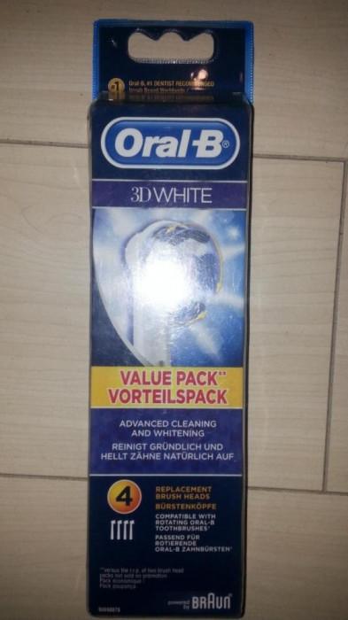 Set 4 rezerve Oral B Braun 3D white nou