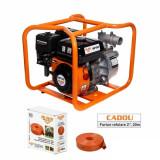 Cumpara ieftin Motopompa apa curata Ruris MP50, 2 , 7 CP, benzina, 600 l min, Hmax. 25 m + furtun refulare 20 m