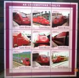 GUINEA-BISSAU 2001 - LOCOMOTIVE THALYS. BLOC MNH, DG10