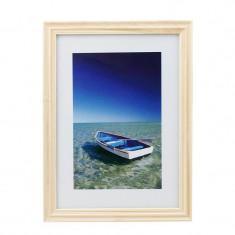 Rama foto Ocean Boat, 13x18 cm, lemn, aspect vintage, de birou, ProCart