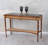 Consola din lemn masiv furniruit cu blat din marmura CAT184