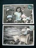 Franta 2 carti postale(1) vechi tip felicitare Paste
