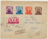 1943 plic circulat cenzurat 5 timbre personalitati Pentru Ardeleni Cosbuc, Maior