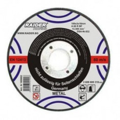 Disc taiere metal 115x1mm, Raider 160118