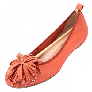Balerini dama, din piele naturala, marca Caprice, 9-22121-20-11, orange 39