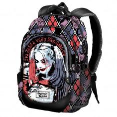 Ghiozdan Harley Quinn Daddy's Lil Monster 44x30x17cm