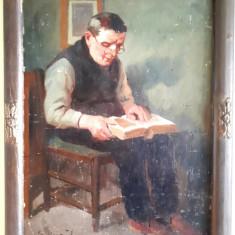 Tablou f. Vechi, ulei pe carton, posibil pictor maghiar