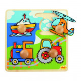 Primul meu puzzle - 4 mijloace de transport, Bigjigs