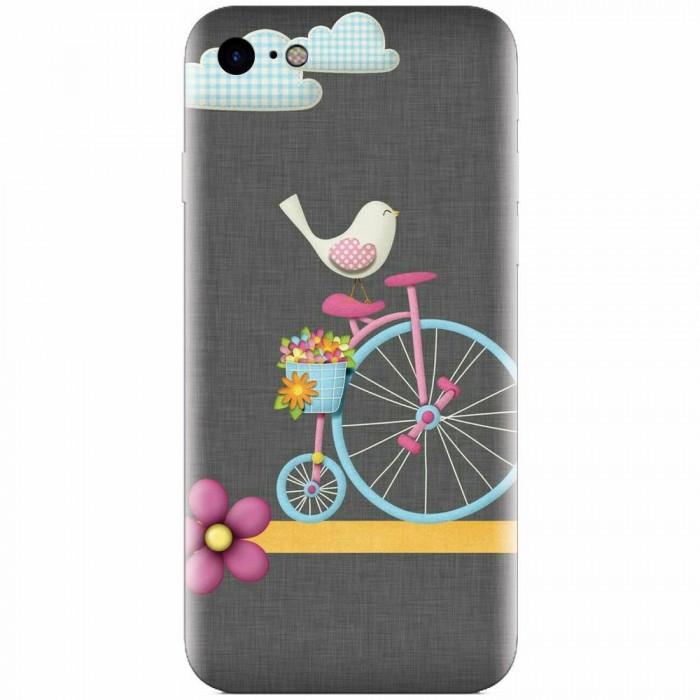 Husa silicon pentru Apple Iphone 7, Bird