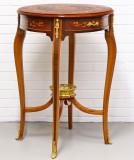 Masuta din lemn masiv cu furnir cu decoratiuni din alama  CAT-Lamp-Tables, Birouri si secretari