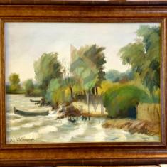 "Tablou, Filip Ivli Timofei, ""Peisaj din Delta Dunarii"", ulei pe panza, 36x45 cm - Filip Ivli Timofei"