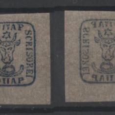 1858 - Cap de bour em.II 40 PAR fals de epoca
