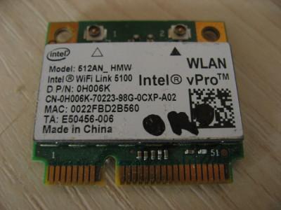 Placa wireless laptop Dell Precision M6500, Intel WiFi Link 5100, 0H006K foto