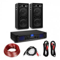 "Electronic-Star Amplificator HiFi și set de boxe, amplificator 2 x 350 W , 2 x boxe 10 "", 450 W RMS"