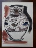 17. Ulcior de ceramica veche, pictura acuarela si tus