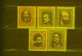 1919 Ungaria Personalitati serie completa nestampilata, cu guma si urme sarniera, Nestampilat