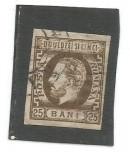 No(02)L.P. 33 ROMANIA 1871 CAROL I BARBA NED. 25 B BRUN