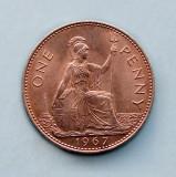 MAREA BRITANIE - 1 Penny 1967 - Elizabeth II