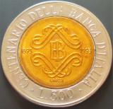 Moneda bimetal 500 LIRE - ITALIA, anul 1994   *cod 806