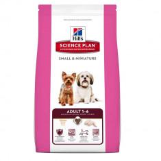 Hill's SP Adult Small and Miniature hrana pentru caini cu pui 1.5 kg