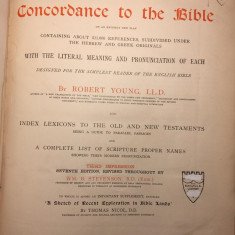 ROBERT YOUNG, LLD - ANALYTICAL CONCORDANCE TO THE BIBLE - BIBLIA {1879}