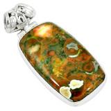 Cumpara ieftin Pandantiv bijuterie din argint 925 cu jasp riolit