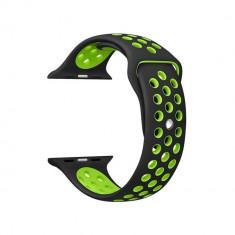 Curea neagra din silicon sport pentru Apple Watch 42mm Series 1 / 2 / 3 / 4 versiunea 44mm