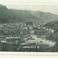 cp Brasov : Vedere generala - circulata 1927, timbre