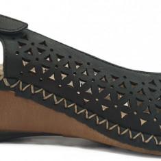Sandale dama cu talpa ortopedica Rieker 66156 bleumarin