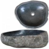 Chiuvetă din piatră de râu, 30-37 cm, ovală, vidaXL