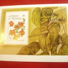 Bloc - Flori si Congres UPU 1984 Antigua si Barbuda
