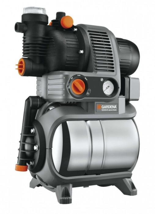 Hidrofor cu rezervor Premium 5000/5 Eco Inox Gardena, 1200 W, 4500 l/h, 5 bar