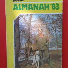 ALMANAH vanatorul si pescarul sportiv  ×  1983