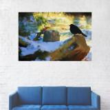 Tablou Canvas, Copac, Zapada, Soare - 80 x 120 cm