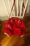 Poseta Prada rosie originala (stare buna)