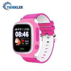 Ceas Smartwatch Pentru Copii Twinkler TKY-Q90 cu Functie Telefon, Localizare GPS, Pedometru, SOS - Roz