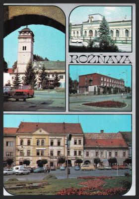 CEHOSLOVACIA - ROZNAVA - BANICKE MESTECKO - COLAJ - CP CIRCULATA #colectosfera foto