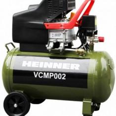 Compresor de aer Heinner VCMP002, 50 L, 2 CP, 8 BAR