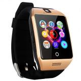 "Cumpara ieftin Smartwatch Vogue Q18 Curved cu Camera si Telefon 3G Display 1.54"" Bluetooth Auriu"