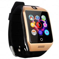 "Smartwatch Vogue Q18 Curved cu Camera si Telefon 3G Display 1.54"" Bluetooth Auriu"