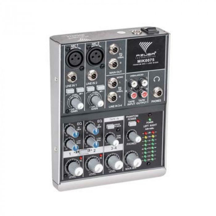 Mixer audio Azusa, 4 canale, 8 W