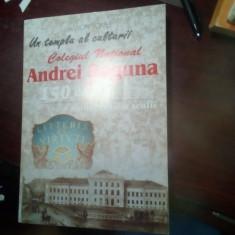 Monografia Colegiul National Andrei Saguna Brasov